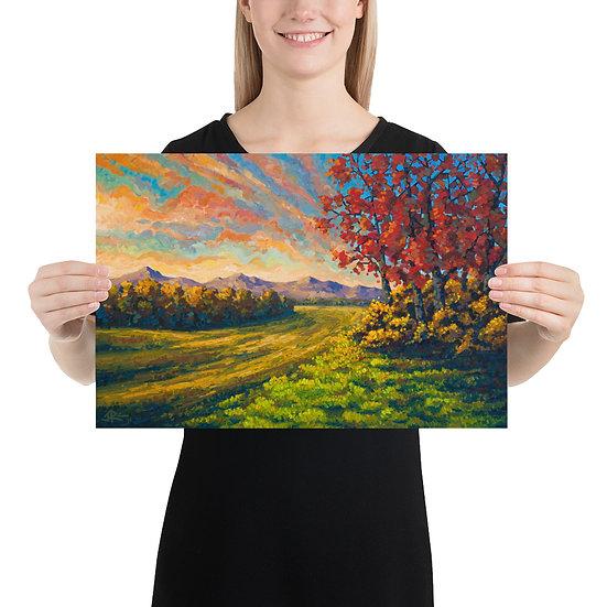 """Farwell Autumn 12""""x18"""" Print"""