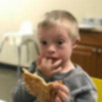 Tasting hummus today in feeding therapy
