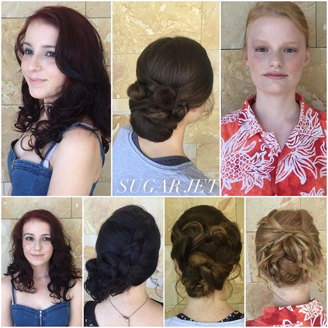 ✂️ SUGAR JET HAIR & MAKEUP✂️ Call us on 08 9524 2777 or BOOK NOW on Facebook!__#Sugarjet #hair #ball