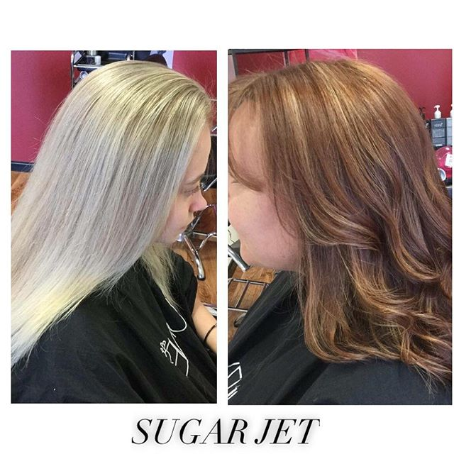 ✂️ SUGAR JET IN ACTION ✂️ Love these colour's! _Call us on 08 9524 2777 or BOOK NOW on Facebook!!! #