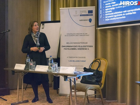 Kecskemétről tartott előadást Szemereyné Pataki Klaudia a belügyminisztérium konferenciáján
