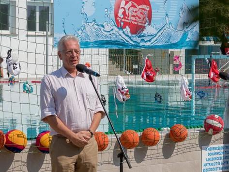 Felavatták a megújult 50 méteres medencét az Élményfürdő és Csúszdaparkban