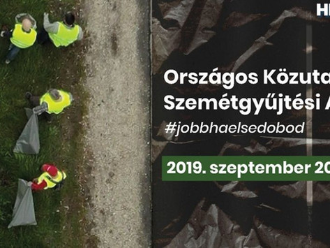 Országos szemétgyűjtési akciót indít a Magyar Közút
