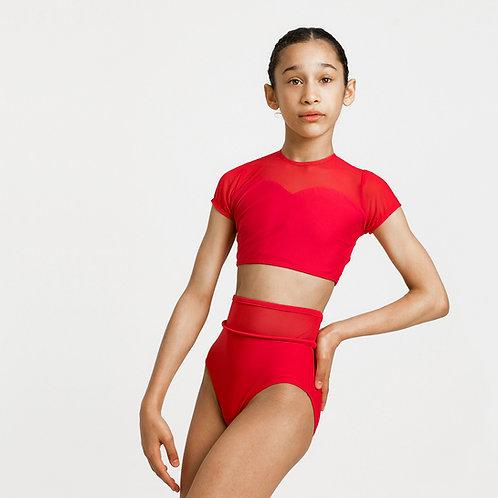 Scarlet Rose Cap Sleeve Crop & Briefs Set