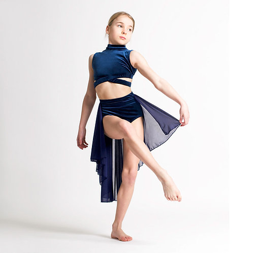 Navy Rosa Lyrical Skirt
