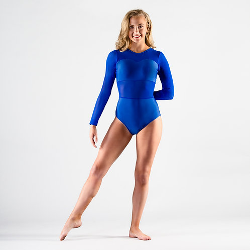 Long Sleeved Mesh Leotard
