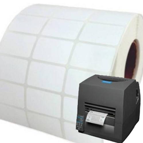 3ups 10000 Nos - 27x12 mtr Barcode Sticker