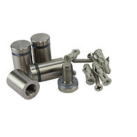 Stand-Off Set - Satin Silver Stainless Steel