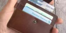 100% Genuine Leather Card Holder Wallet for Men/Women