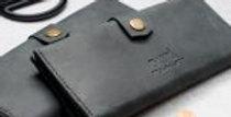 Black leather wallet, Black wallet, Black woman wallet, Woman wallet, Wallet for