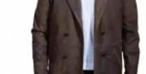 Featherhide Doctor Who Hurt War John Costume Brown Leather Coat