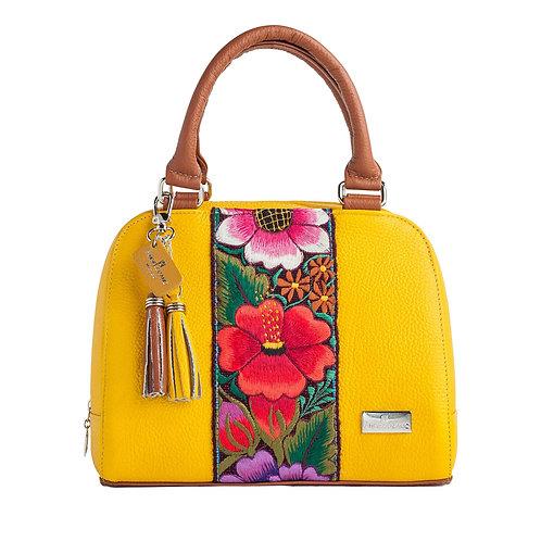 Elsa Satchel Yellow Leather
