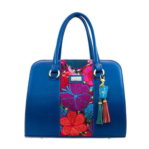 Blue Leather Handbag Camila