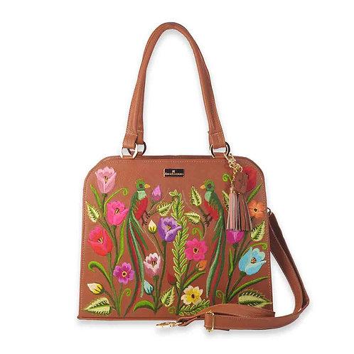 Brown Leather Handbag Camila