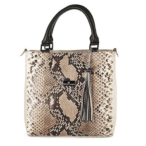 Pilar Python Gold Leather Handbag