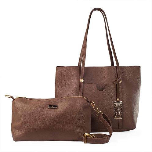 Leona Brown Leather Tote Bag
