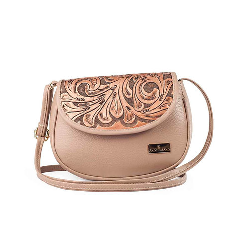Karen Small Crossbody Tan Leather