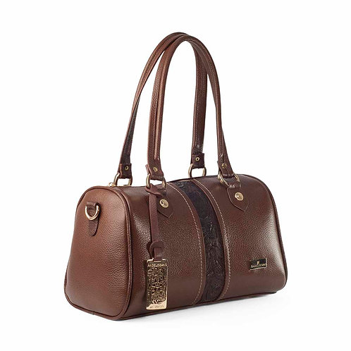 Alondra Brown Satchel Leather Bag