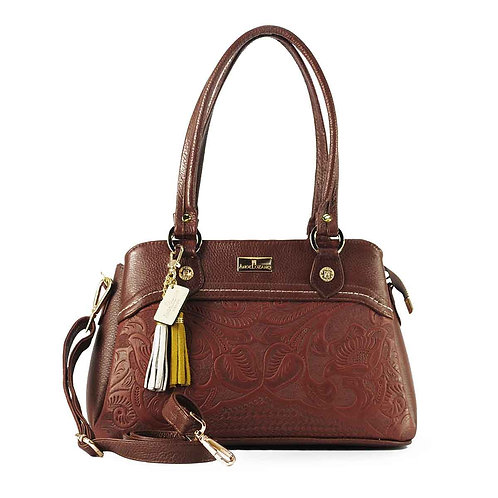 Angela Brown Leather Medium Handbag