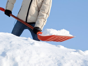 Don't hurt yourself shoveling snow!  ~        5 safety tips!