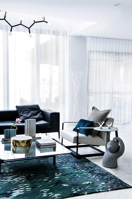 chiswick residence blues whites inviting lounge room entertaining area design