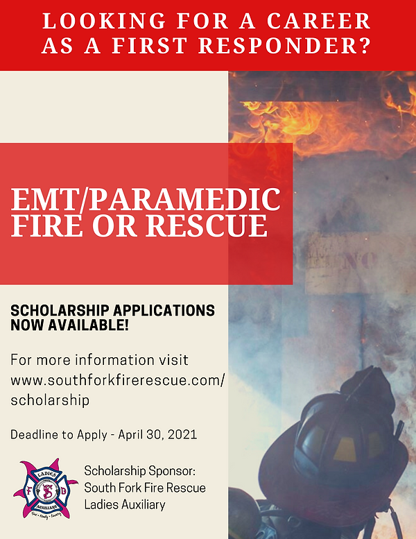 emt_paramedic fire or rescue scholarship