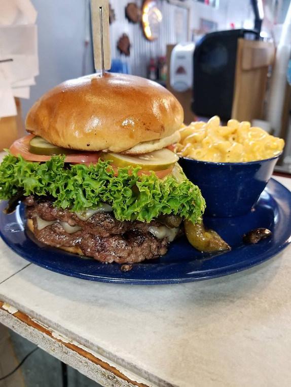 Double Half Pound Chopped Steak & Mac