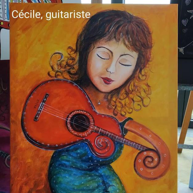 Cécile, guitariste