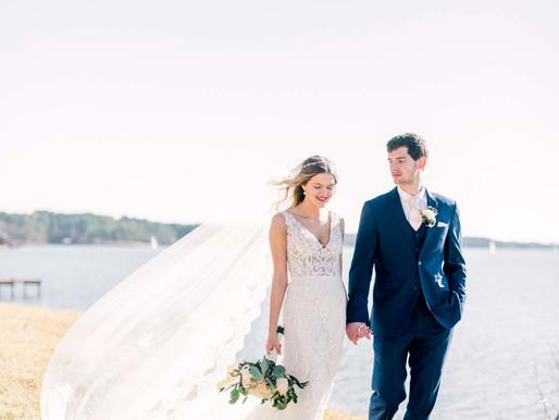 Karina + Thomas | Lakeside Winter Wedding at Lake Tyler Petroleum Club | Tyler, Texas