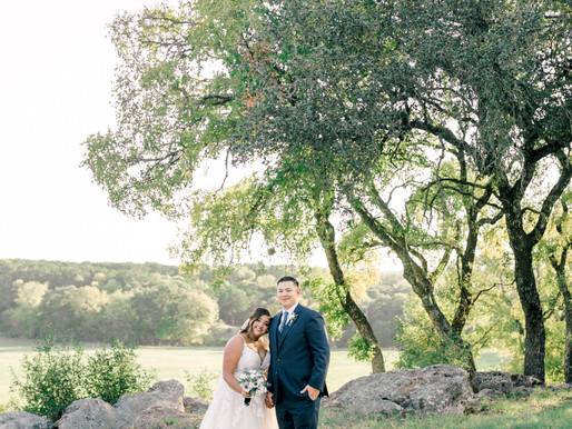 Mia + Ricky | Blue Wedding at The CW Hill Country Ranch in Boerne, Texas