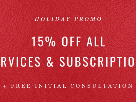 15% Off Your Holiday Purchase*
