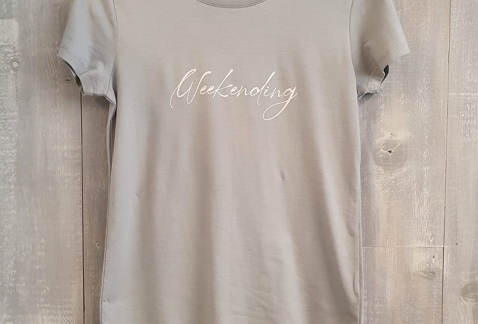 Weekending Tee- Grey Marl