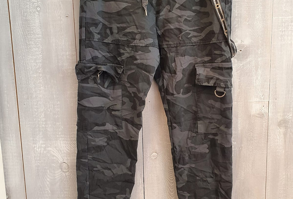 Camo Trousers - Charcoal