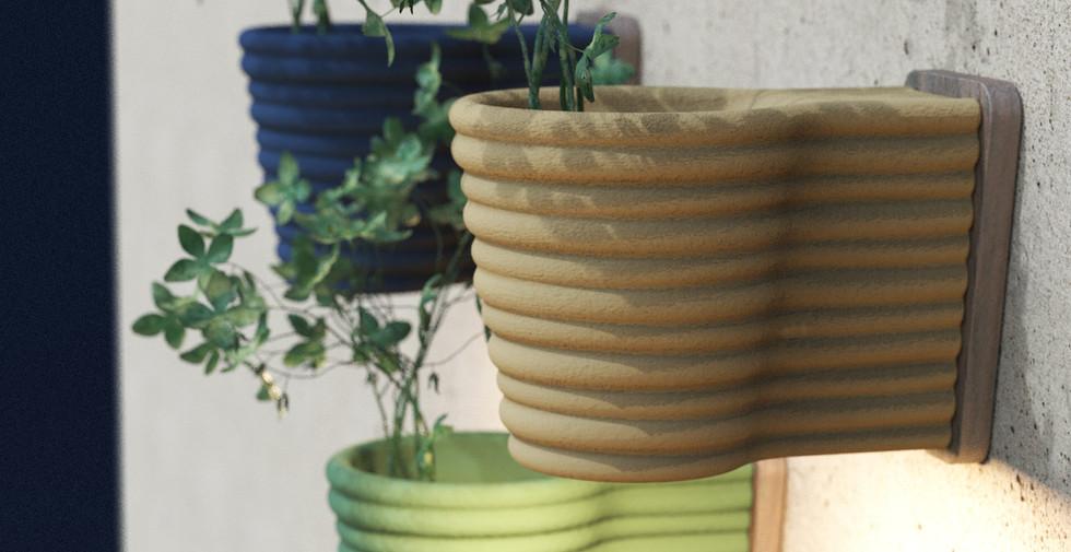 Vika - Wall Vase and Lamp