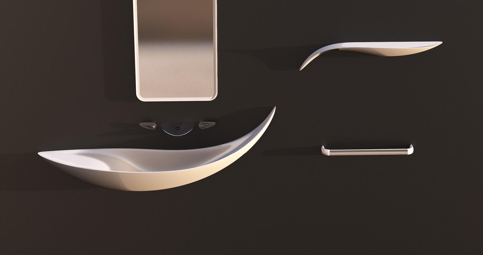 Balene - Washbasin + Faucet