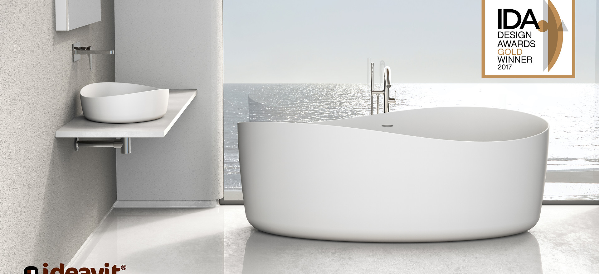 SOLIDHARMONY - Design Series for Ideavit B.V. - Bathtub + Washbasin
