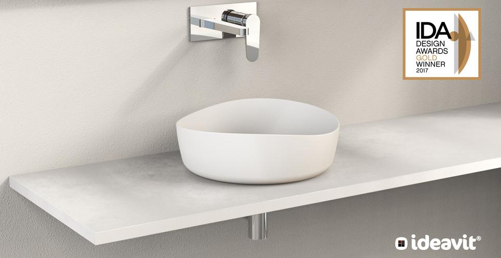 SOLIDHARMONY - Design Series for Ideavit B.V. - Round Washbasin