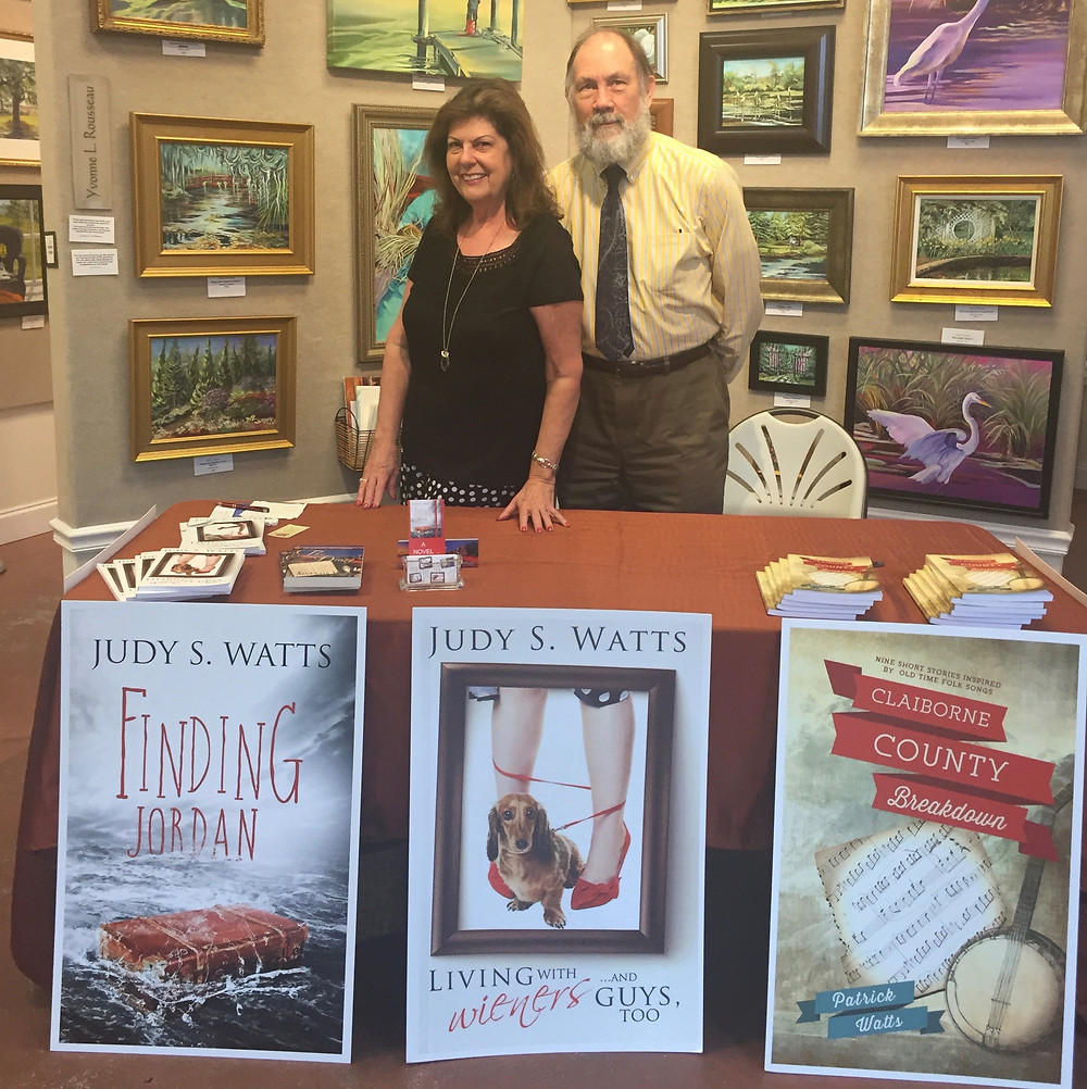 Pat (the Hubster) and I had a great time at the annual Author! Author! event in downtown Summerville on June 15 at Art Central Gallery.
