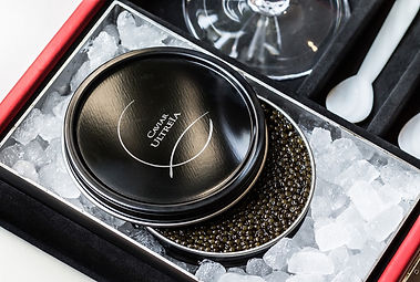 exclusive caviar tasting in private show room