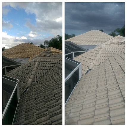 Roof cleaning in Ballen Isles, Palm Beach Gardens, Fl