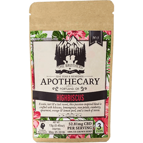 Brothers Apothecary CBD Highbiscus Tea