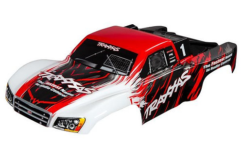 TRA5824R Traxxas Body, Slash 4X4, red (painted, decals applied)