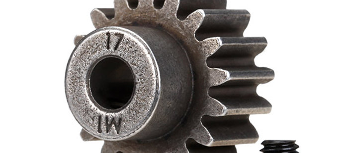 TRA6490X Traxxas Mod 1 Steel Pinion 5mm Shaft 17 compatible wsteel spur gears