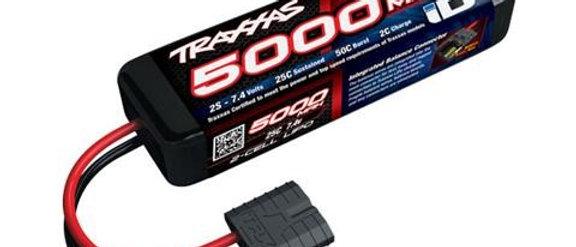 TRA2842X Traxxas 5000mAh 2S 7.4V 25C LiPo iD Connector Soft Case 137x24x43mm