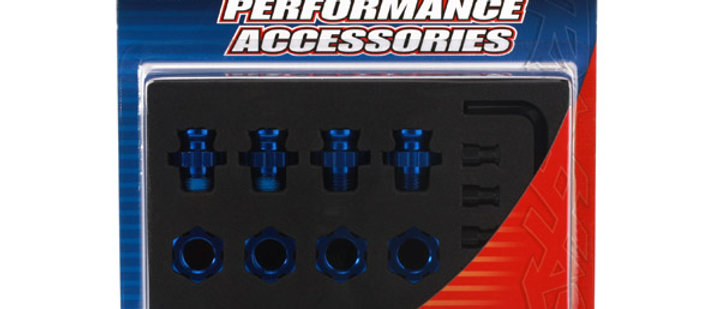 TRA6856X Traxxas Aluminum 17mm Wheel Adapter Set (Blue) (4)