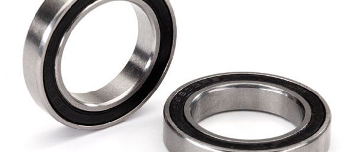 TRA5107X Traxxas Ball bearing, black rubber sealed, stainless (17x26x5) (2)