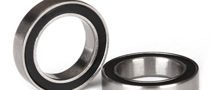TRA5120A Traxxas Ball Bearings, Black Rubber Sealed (12x18x4mm) (2)