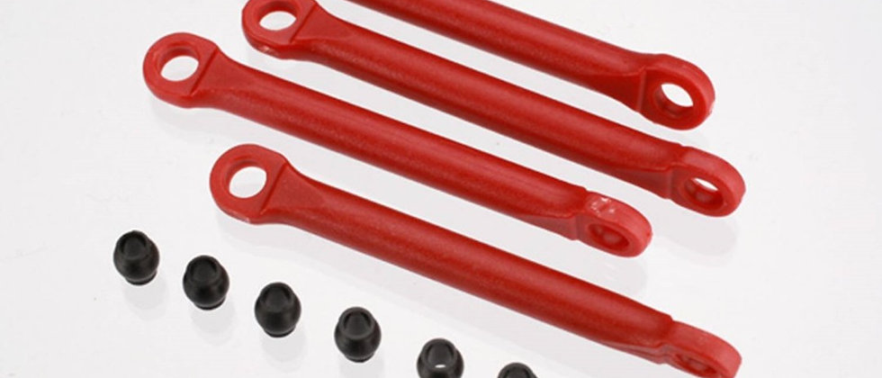 Traxxas Aluminum Push Rod Set (molded composite)(Red) (4) Hollow balls (8)