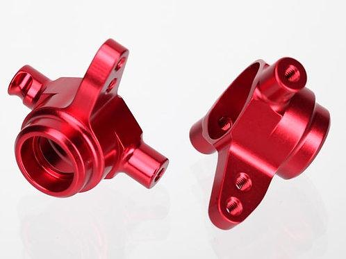 TRA6837R Traxxas Aluminum Steering Block Set (Red) (2)