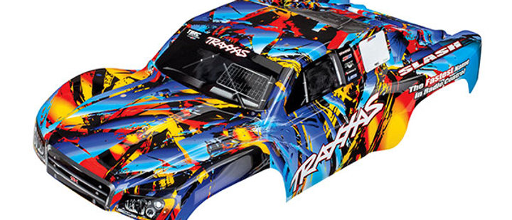 TRA5848 Traxxas Body, Slash 4X4, Rock n' Roll (painted, decals applied)
